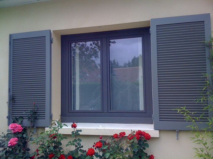 Pvc gris anthracite pas cher for Fenetre pvc couleur